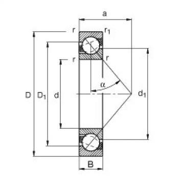 FAG الزاوي الاتصال الكرات - 71814-B-TVH