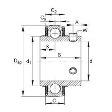 FAG شعاعي إدراج الكرات - UC211-34